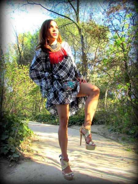vestido-dress-mary paz metallic sandals-frindges necklace-moda mujer-estilo-fashion-style-angie-angienewlook-angie reyn-color blocking-new in-luxury-lujo-estilo de vida