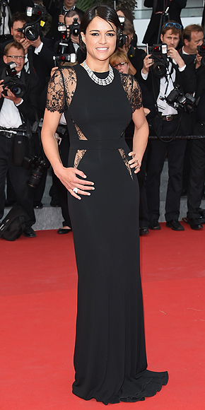 michelle-rodriguez-2-cutouts-black gowns-cannes-68 edition cannes-angienewlook-haute couture-alta costura-costa azul