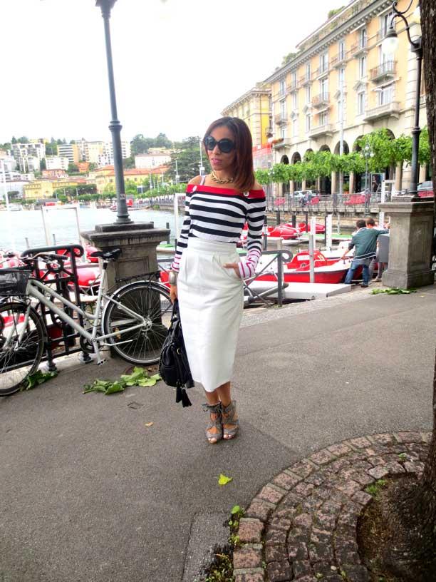switzerland-suiza-lugano-stripes-top-rayas-denny-rose-angie-reyn-falda-de-cuero-gafas-prada-fashion-blogger-personal-shopper-madrid