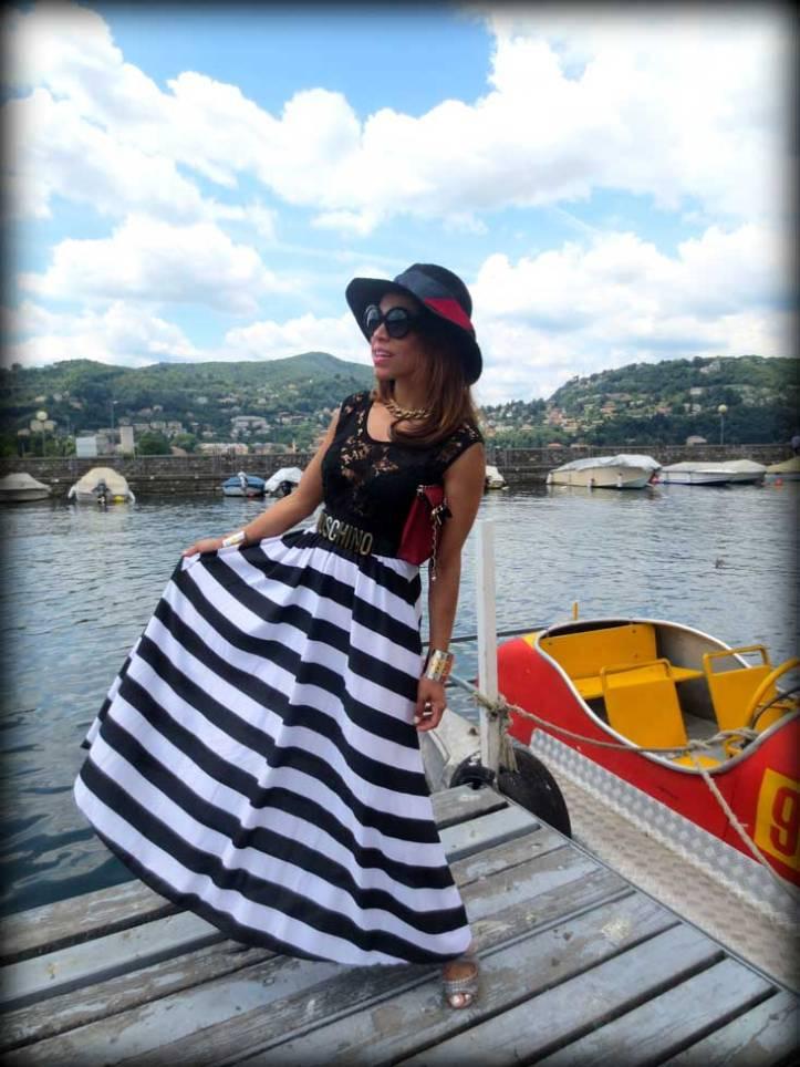 switzerland-suiza-lugano-stripes-top-rayas-denny-rose-angie-reyn-falda-de-cuero-gafas-prada-fashion-blogger-personal-shopper-madrid-vestido-de-rayas-sombrero-oysho-lago-di-como