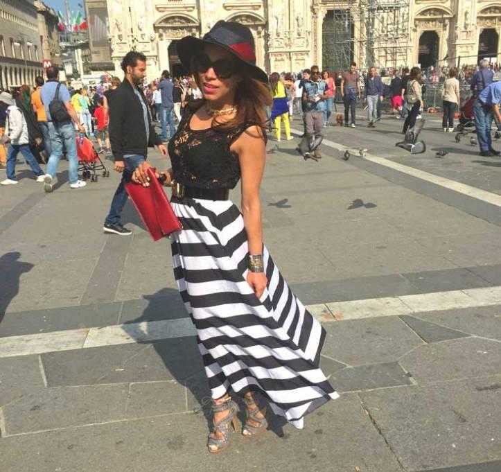 switzerland-suiza-lugano-stripes-top-rayas-denny-rose-angie-reyn-falda-de-cuero-gafas-prada-fashion-blogger-personal-shopper-madrid-vestido-de-rayas-sombrero-oysho-vestido-largo-rayas