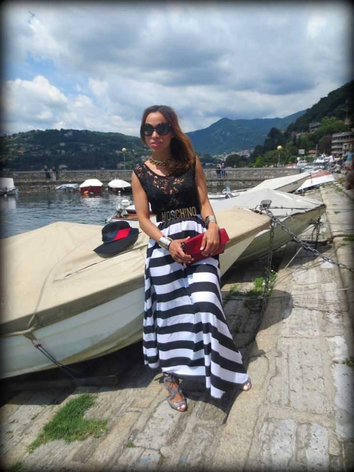 switzerland-suiza-lugano-stripes-top-rayas-denny-rose-angie-reyn-falda-de-cuero-gafas-prada-fashion-blogger-personal-shopper-madrid-vestido-de-rayas-sombrero-oysho