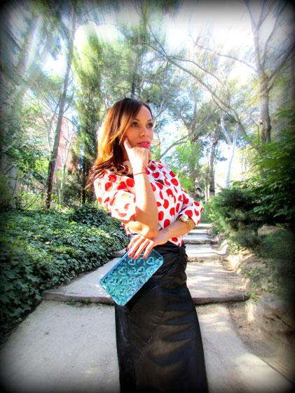 denny-rose-la-strada-nude-stilettos-zapatos-de-salon-falda-polipiel-camisa-de-lunares-rojos-angienewlook-angie-reyn-blogger-fashion-stylist-angelica-reynoso