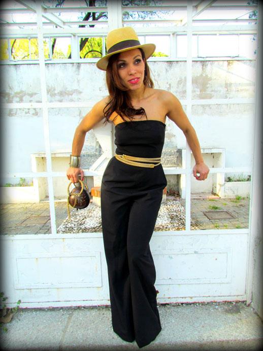 JUMPSUIT-enterizo-mono-negro-palabra-de-honor-denny-rose-jumpsuit-sombrero-panama-hat-cinturon-oscar-de-la-renta-bolso-coco-angienewlook-angie-reyn-angelica-reynoso