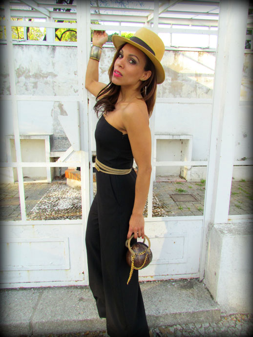 JUMPSUIT-enterizo-mono-negro-palabra-de-honor-denny-rose-jumpsuit-sombrero-panama-hat-cinturon-oscar-de-la-renta-bolso-coco-angienewlook-angie-reyn-moda-mujer
