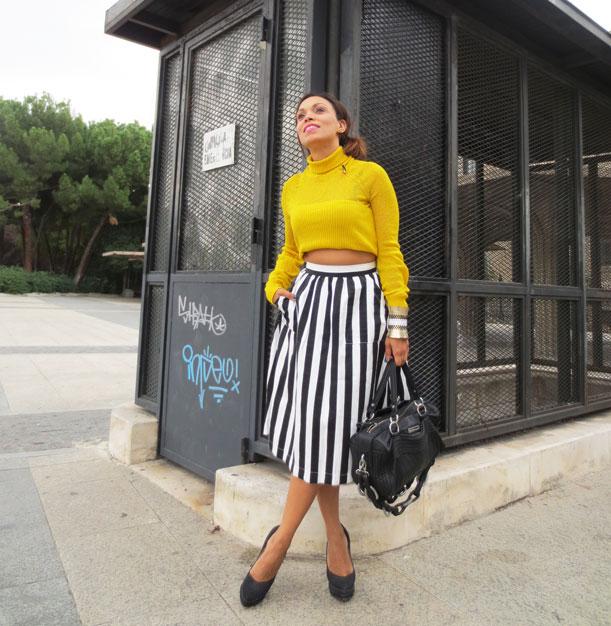 el-alfeñique-rojo-stripe-skirt-midi-skirt-bcbg-bag-bolso-bcbg-angie-angie-r-angienewlook-missnewlook
