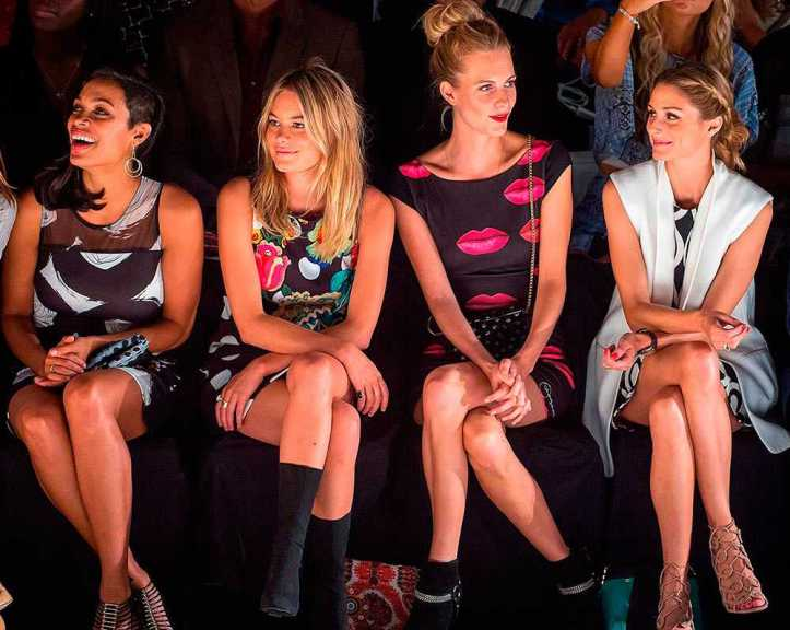 looks front row-olivia-karlie-angie reyn-angienewlook-when to use tights-cuando usar medias tupidas negras
