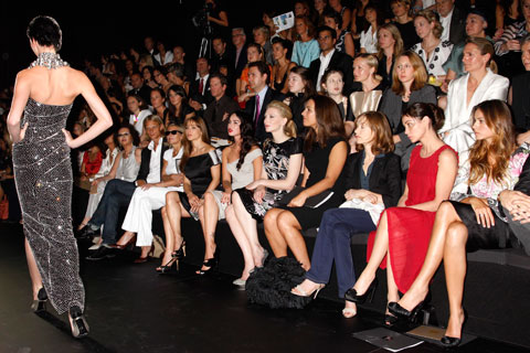 ny fashion week front row