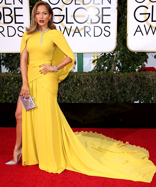 jennifer-lopez-giambattista valli haute couture gown-jimmy choo heels-golden globe awards jennifer lopez