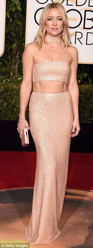 kate hudson cut-out gown golden globe 2016- michael kors cut out dress-pale pink-rosa palo-angie reyn-fashion stylist
