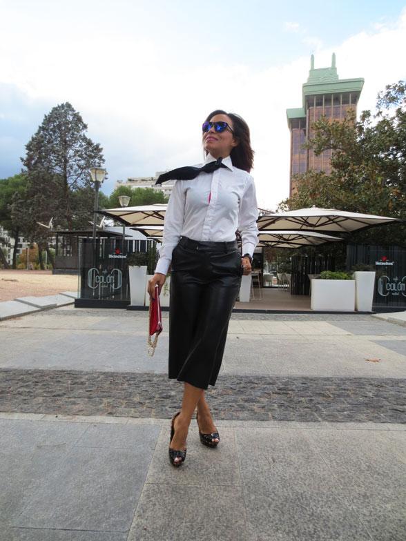 pantalon-culotte-pantalón-de-cuero-negro