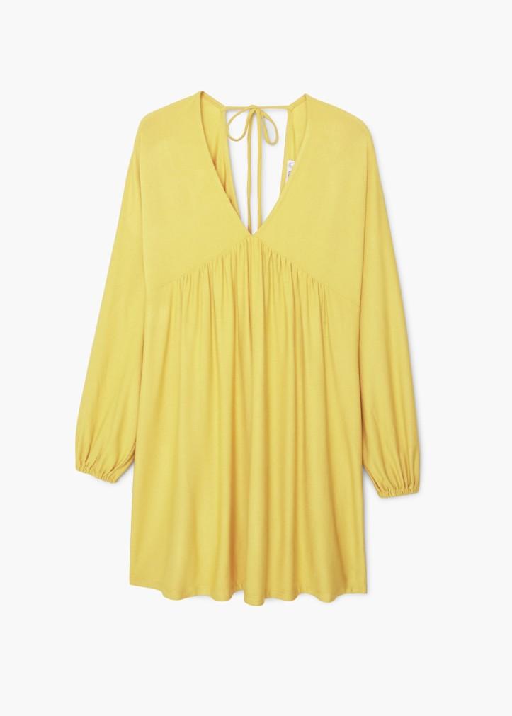 vestido de mango-vestido amarillo-primavera-verano 2016-angie-angienewlook