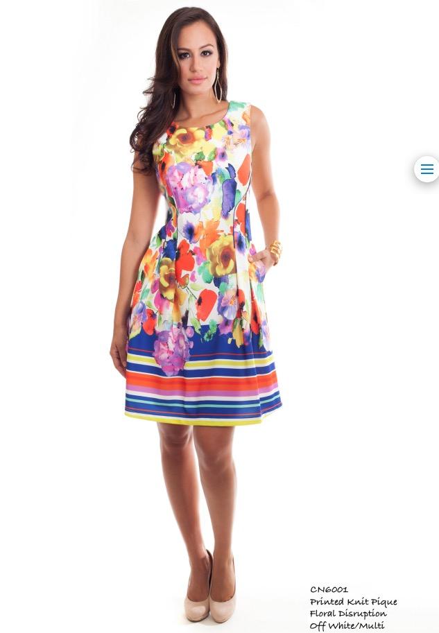 cenia floral ladylike dress-petite style