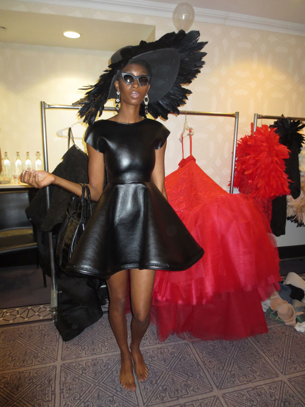 leather-collection-irina-shbayeva-floppy-hat-fitting-room-fashion-week-backstage