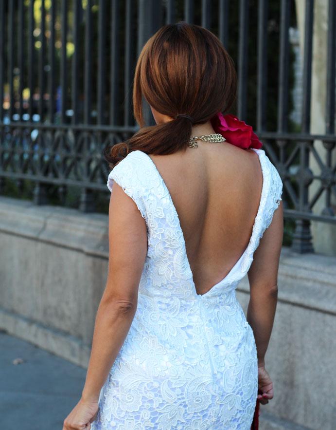 vestido de lujo-luxurious dress-v neck