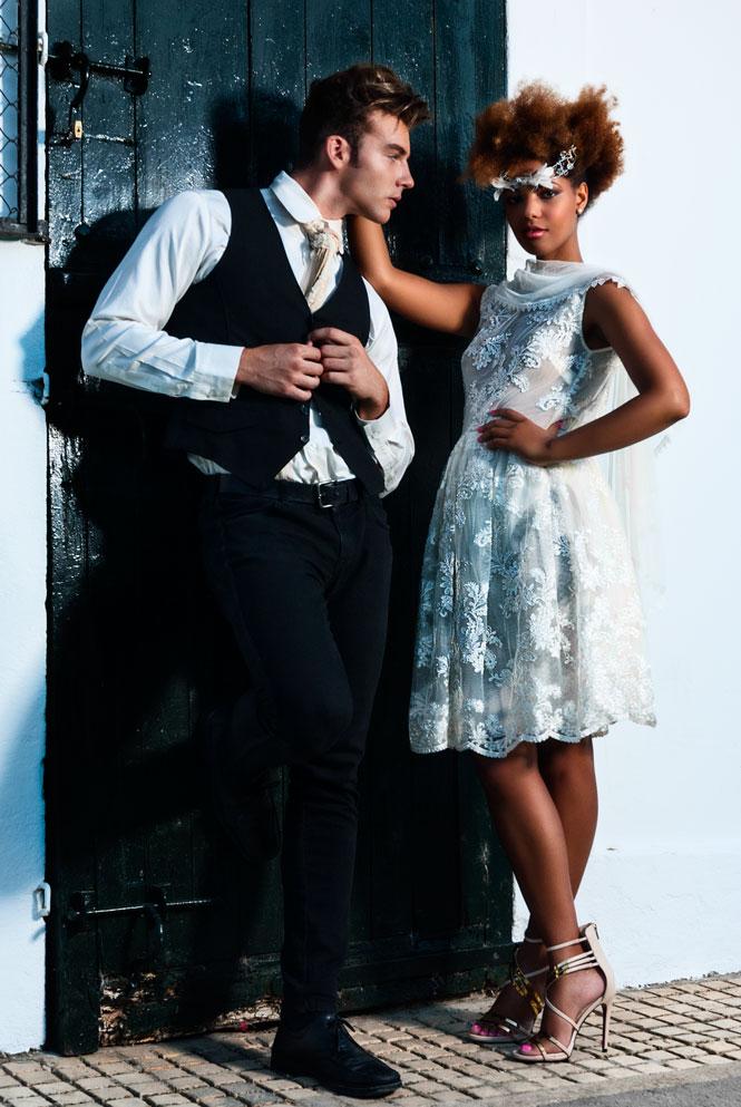 amarca dress, prima donna, sandra palomar accesories, paco cecilio suit, groom tuxedo,angienewlook stylist
