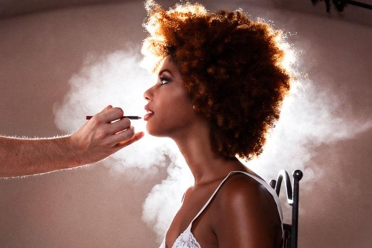 maquillaje de novia-bride make up-afro girl