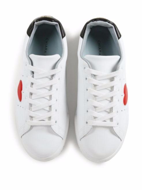chiara ferragni sneakers, white sneakers