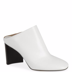 maison margiela white leather mules