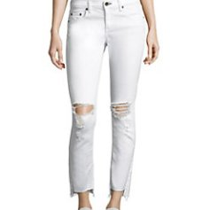 distressed jeans, rag&bone white jeans