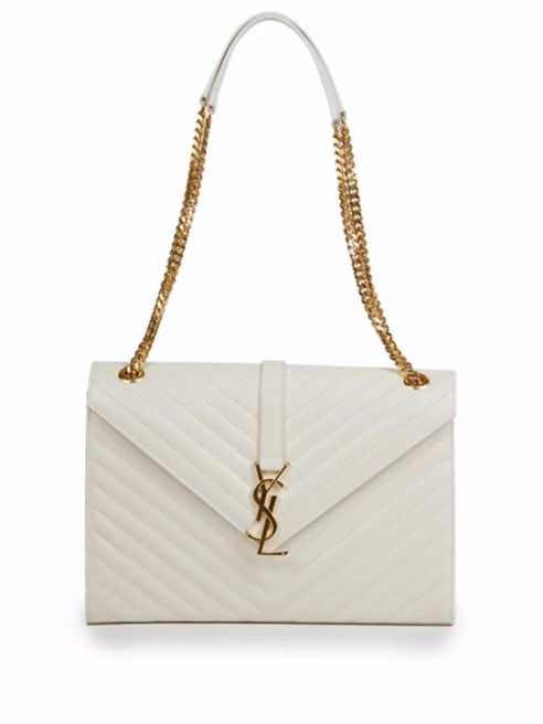 saint laurent white chain bag
