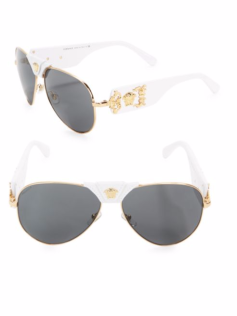 Versace white and gold sunglasses