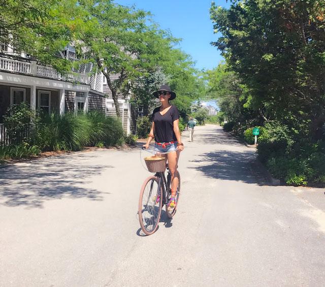 riding a bike in nantucket