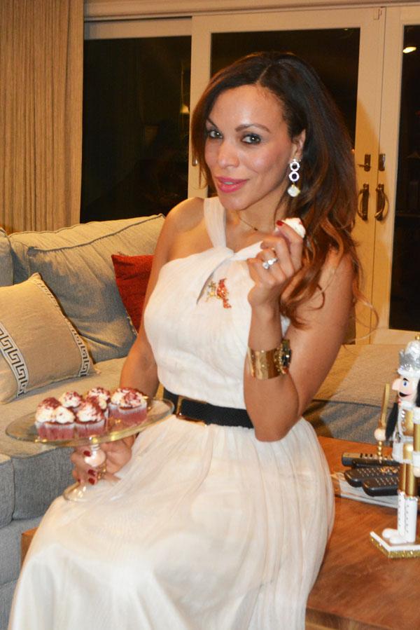 swarovski earring, xmas tree, cupcakes