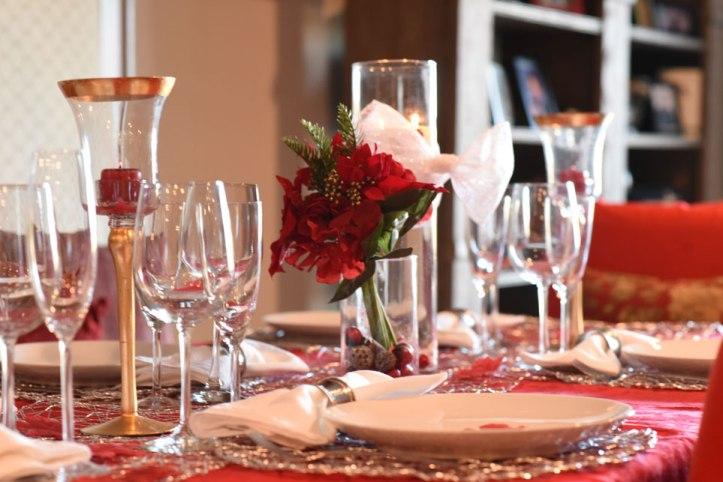 xmas decor, xmas table, christmas table, festive decoration
