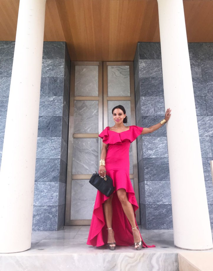 vestido-de-alfombra-roja-red-carpet-dress-jimmy-choo-sandals-gucci-bag-angie-reyn