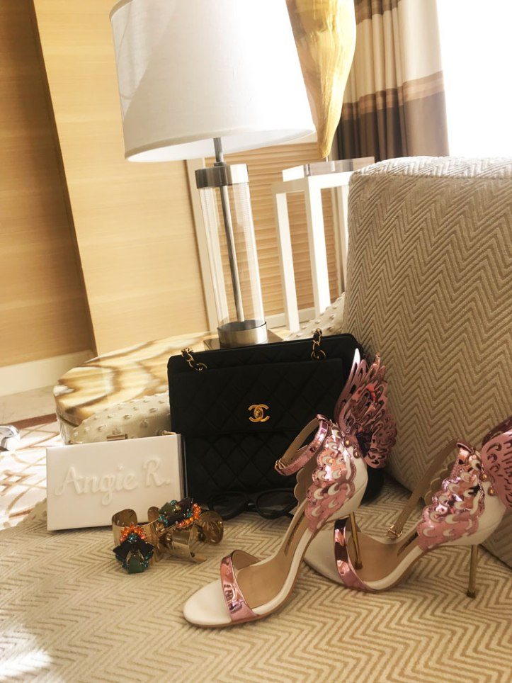 chanel-vintage-handbag-sophia-webster-batterfly-sandals-las-vegas-nevada
