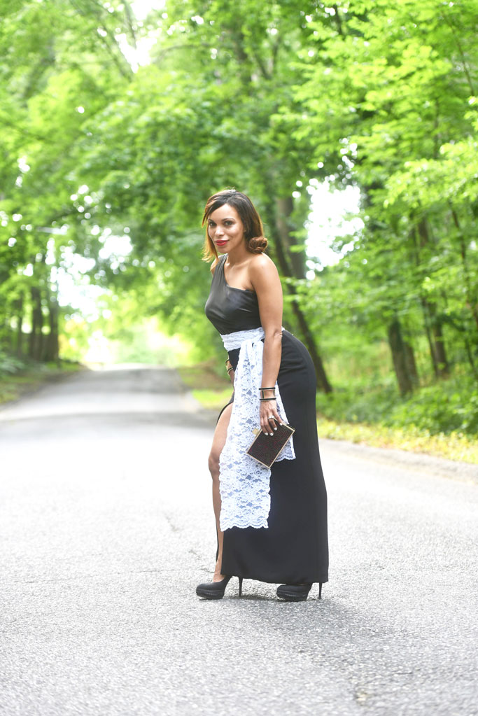 long-dress-black-and-white-blanco-y-negro-long-island